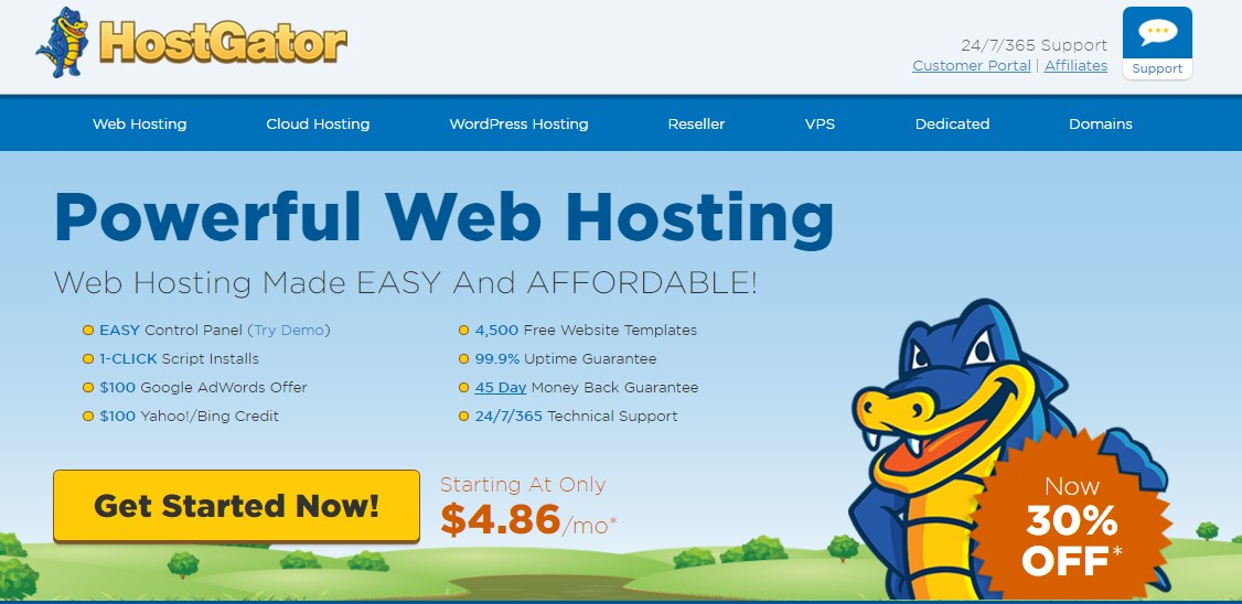 hostgator powerful webshosting