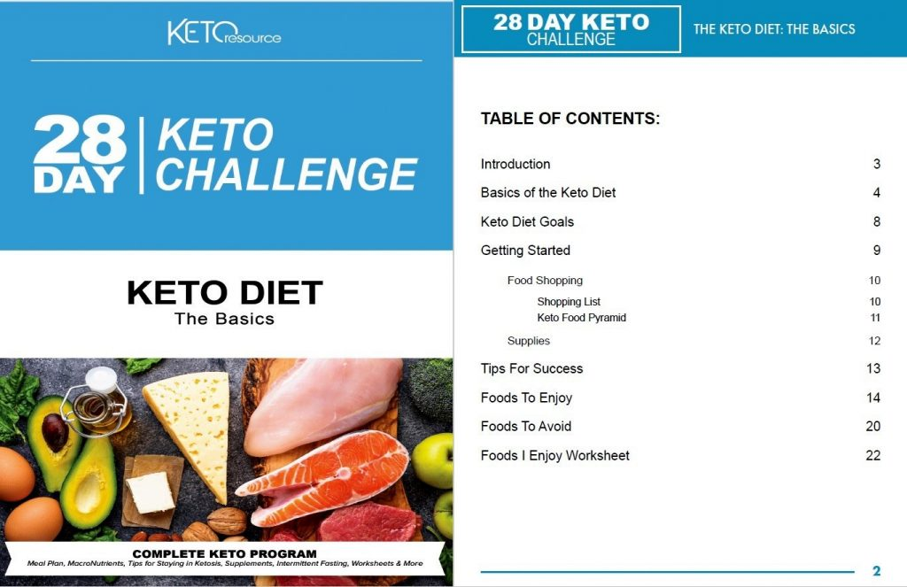 28-day keto challenge book preview