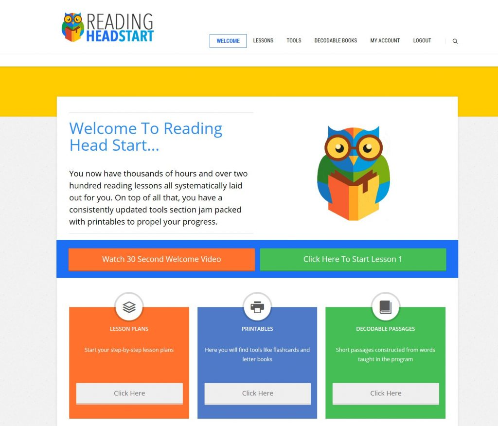 reading head start program full access